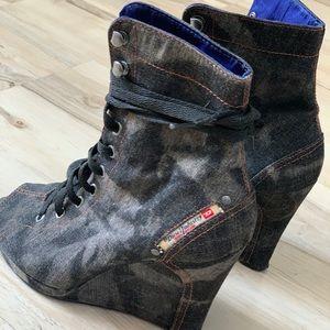 💥DIESEl💥 Burlesque open toe bootie size 7.5